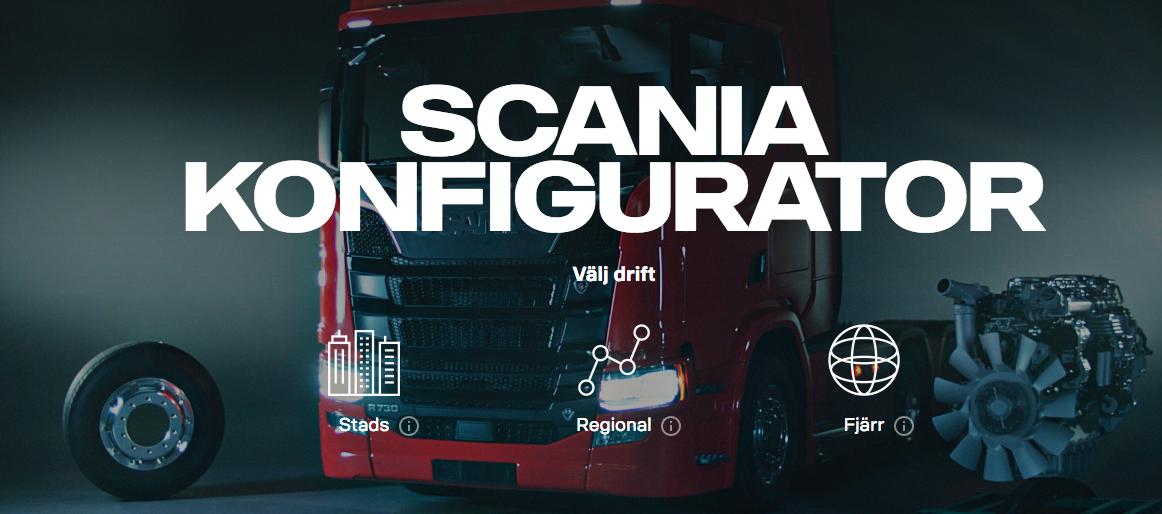 Konfigurera din nästa Scania